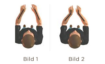 Hände am Lenker mit korrekter Haltung und zu starkem Abknicken im Handgelenk