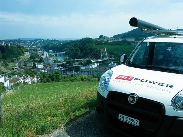 Servicewagen erneuerbarer Strom