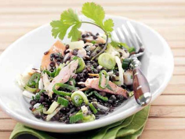Linsen-Fisch-Salat-Rezept