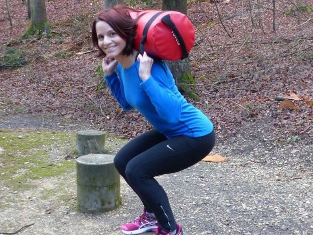 Karin Setz beim Outdoor Training