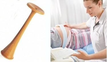 Holz-Stetoskop-nach-Pinard_und_Hebamme-beim-CTG