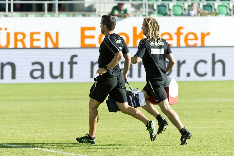 Hirslanden Physiotherapeut im Einsatz beim FC St.Gallen