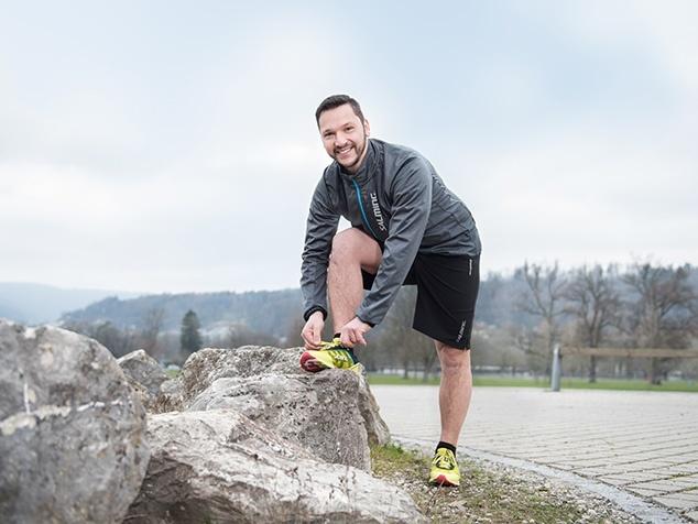 Michele Parente schnürt die Laufschuhe