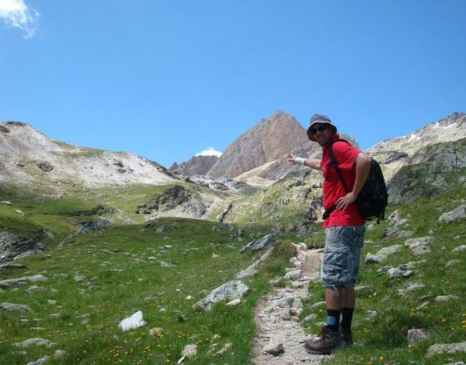 Stefan Lienhard am Wandern