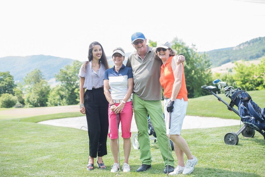 Golfer mit Miss Schweiz