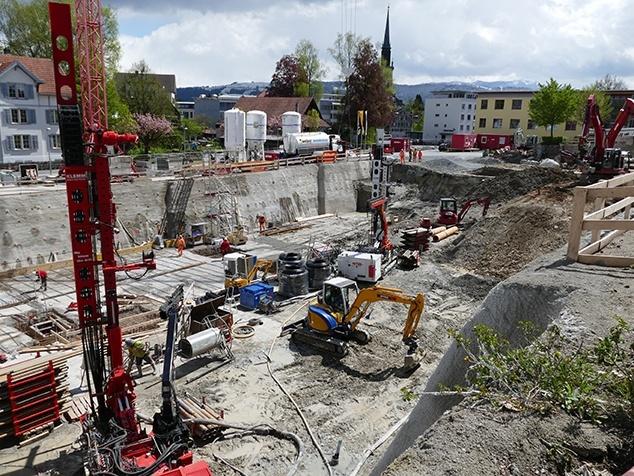 Baustelle AndreasKlinik für Wärmepumpe
