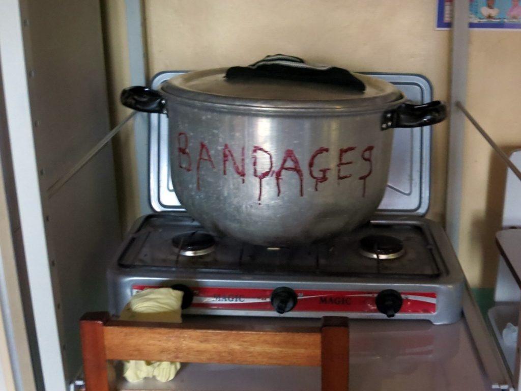 Auskochen der Bandagen