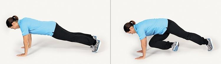 Golfübung Plank Position