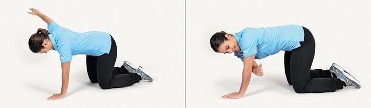 Golfübung X-Faktor Stretching