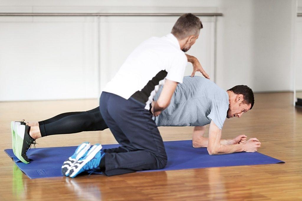 patient cardiaque en training