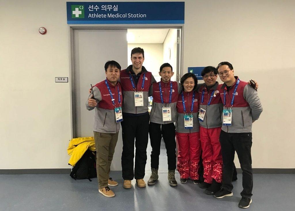 IOC Ärzteteam bei Eishockey-Arena