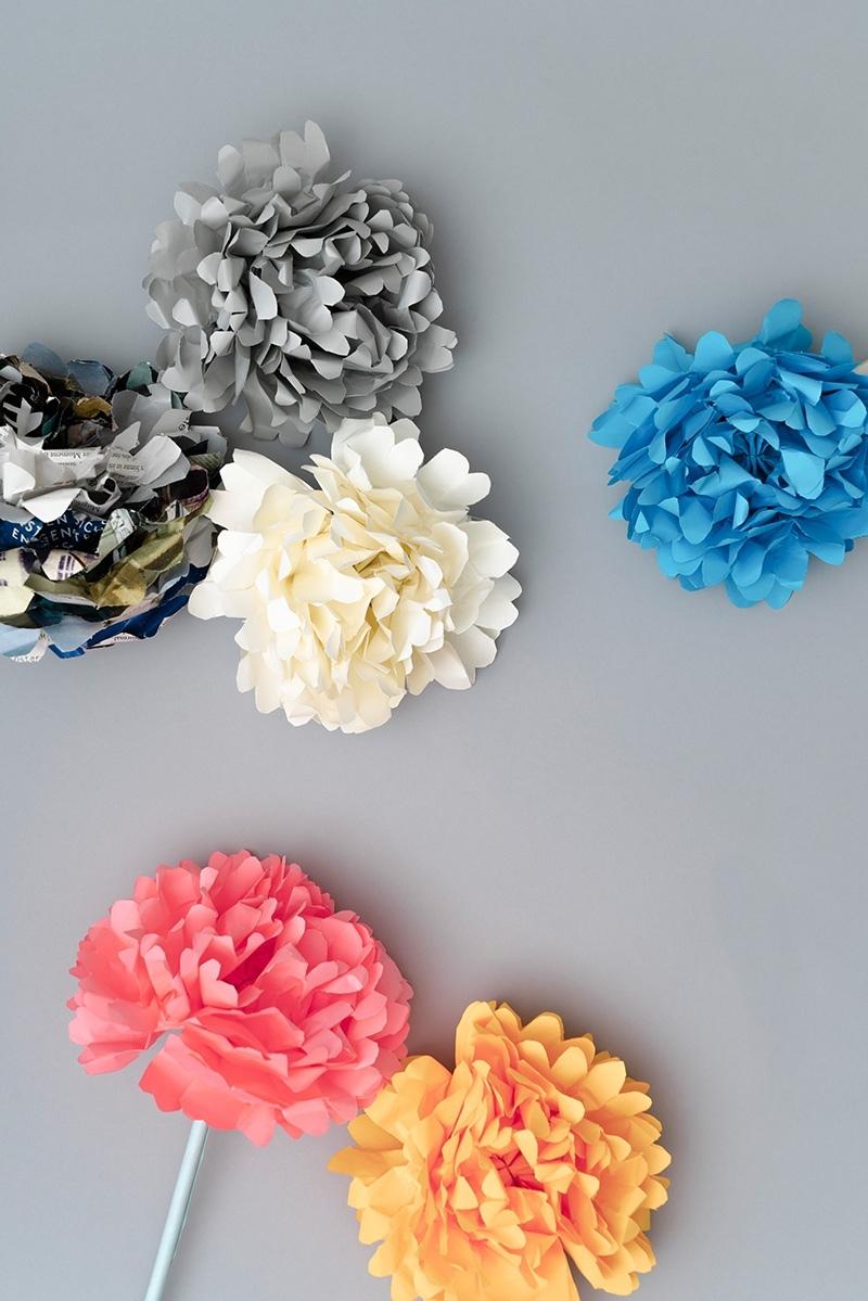 Papierblumen für Krebspatienten wegen Hygienevorschriften