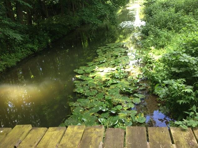 Brücke über Wasser als Zeichen der Gelassenheit