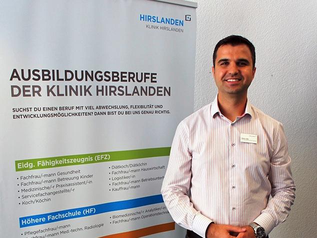 Mentor Alija, Leiter Berufsbildung der Klinik Hirslanden