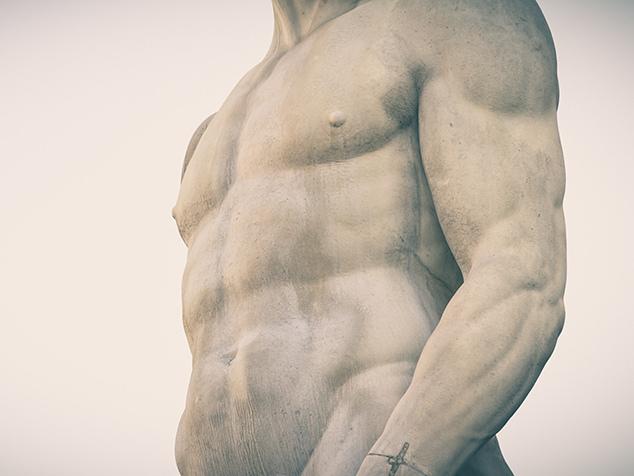 Mannsbild als Statue