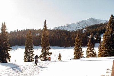 Person bei Skitour