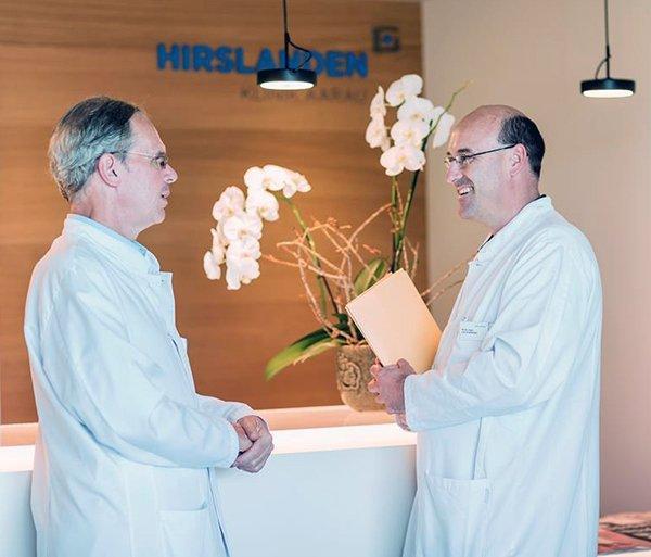 Herzchirurgen Thierry Carrel und Lars Englberger