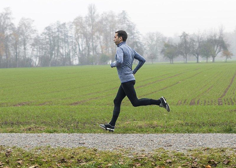 Herzpatient beim Laufen