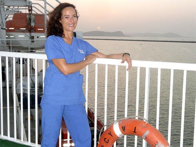Diana, OP-Fachfrau im Einsatz bei Mercy-Ships