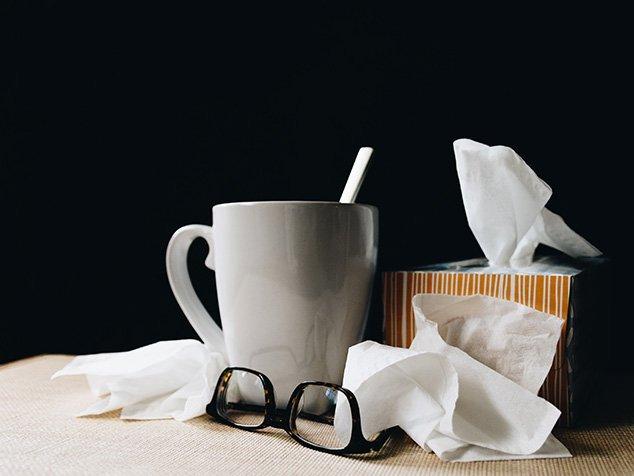 Taschentücher, Tee etc. da das Immunsystem geschwächt ist.