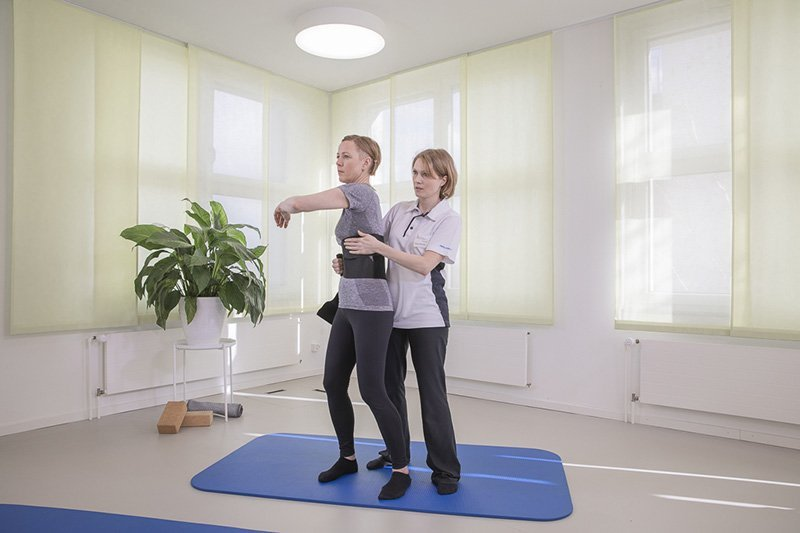 Anlegen Gurt für Training nach der Tupler Technique