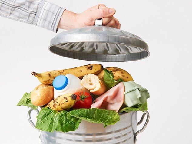 Abfalleimer mit Lebensmitteln (Food Waste)