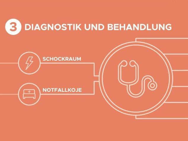 3. Schritt im Notfallablauf: Diagnostik und Behandlung