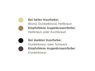 Augenbraue Farbe