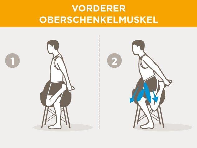 Laufsport-Aufwärmen-Vorderer-Oberschenkelmuskel