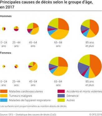 Principales causes de décès selon le groupe d'âge